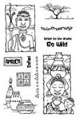 Woodware - African Holiday - Clear Magic Stamp Set - FRCL158